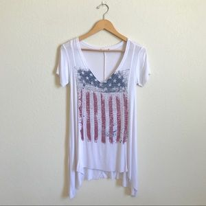 Altar'd State   American Flag Graphic Burnout Tee